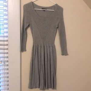 Grey sweater dress - AE